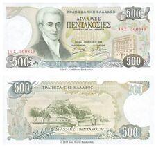 Greece 500 Drachma 1983  P-201 Banknotes UNC