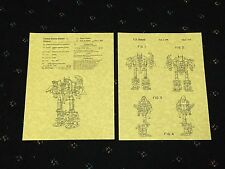 "PATENT ART PRINT 8.5"" X 11"" READY TO FRAME TRANSFORMERS COMBINER ABOMINATION"