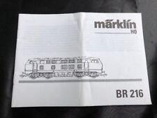 Märklin H0 Br 216, nur die ORIGINALBESCHREIBUNG/ Instruction von 1998/99