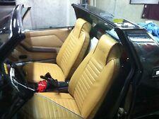 FODERE SEDILI AUTO SU MISURA ASIAM FIAT X 1/9 - SIMILPELLE BEIGE - LOGO ORO