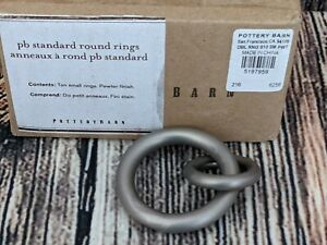 Pottery Barn Pewter Standard Curtain Round Rings Set of 10 Double Ring