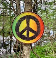 Rasta Peace Sign metal tin sign wall decor garage man cave shop gift under $20