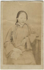 Photo Anonyme Carte de Visite Cdv China Femme Chinoise Amanite Vers 1860