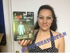 """AMC Breaking Bad Walter White 6"""" Blue Hazmat Suit TV Show Action Figure Mezco NR"""