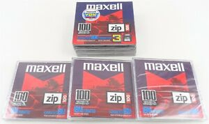 Lot of 6 Maxell 100 MB IBM Formatted ZIP100 Disks New in Package (B)