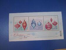 3 Christmas Ornaments #2411 Canada 2011 MNH souvenir sheet