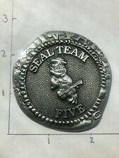 NAVY SEAL TEAM 5 V (SILVER) NSW USN CHALLENGE COIN DOUBLOON N3 CPO CHIEF FIVE