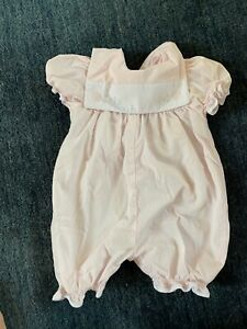 Embroidered Baby Girl Pink Onepiece SZ 6M