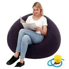 Bean Bag Gamer Recliner, Outdoor Inflatable Lazy Sofa Washable Living Room Blue