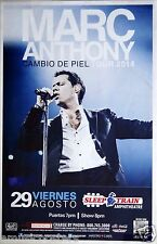 "MARC ANTHONY ""CAMBIO DE PIEL TOUR 2014"" SAN DIEGO POSTER -Latin Pop Music, Salsa"