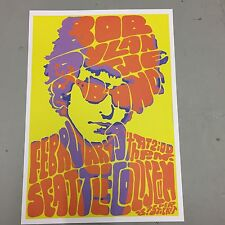 BOB DYLAN - CONCERT POSTER SEATTLE COLISEUM 19th FEBRUARY (A3 SIZE)