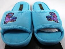 Laurel Burch Blue Chenille Non-Skid House Slippers Horse Design Medium 7/8