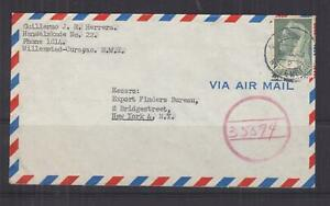 CURACAO, 1943 Airmail Censored cover, 35c., WILLEMSTAD to USA.