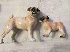 Vintage Pug Dog Porcelain Figurine
