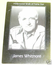James Whitmore - Hollywood Walk of Fame 1960s PostCard