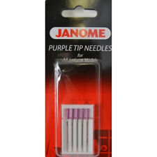 Janome Sewing Machine Purple Tip Needle 5 Count New
