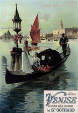 Art Deco Print Venice Advert  French Poster