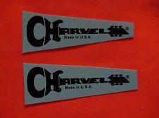 Charvel guitar neck waterslide decals San Dimas 2 BLACK Made In U.S.A. Ⓡ
