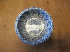 """Roseville Pottery OH USA Gerald Henn BLUE SPONGE Bowl 6 5/8"""" 1 ea"""