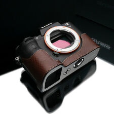 GARIZ Leather Case for Sony A7II A7IIR A7IIS XS-CHA7IIBR Brown