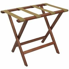 Wooden Mallet LR-MHTAN Deluxe Straight Leg Luggage Rack - Mahogany New