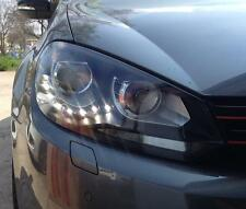 ORIGINAL DECTANE VW Golf 6 vi FARI LED LUCE DIURNA NERO/BLACK frase