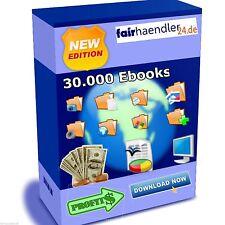 30.000 ENGLISCHE EBOOKS EBOOK SAMMLUNG MASTER RESELLER MRR RESALE WIEDERVERKAUF