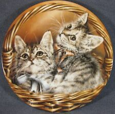 Andrew and Abbey Collector Plate Baskets of Love Alexei Isakov Cats Kittens