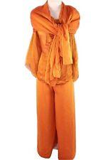 Oscar De La Renta Blouse Pants Scarf Set Womens 14 Silk Gatsby Downton Abbey Vtg