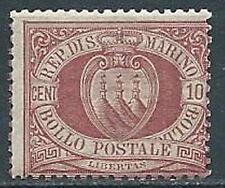 1894-99 SAN MARINO STEMMA 10 CENT MNH ** - VA6-4