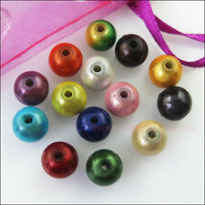 80 New Acrylic Charms Ball Round Spacer Beads Mixed for DIY Crafts 5mm