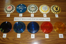 Williams Bally Pinball, Pop Bumper Caps, Good Used, You Choose Which Ones!