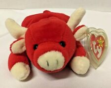 """TY Beanie Babies Retired """"Snort"""" w/ Tag Errors PVC pellets collector"""
