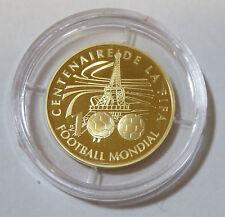 GOLDMÜNZE FRANKREICH 10 EURO 2004 100 JAHRE FIFA FUßBALL EIFFELTURM PARIS PP
