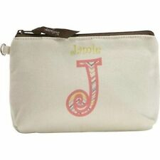 Thirty one mini zipper pouch wallet 31 gift Lil expressions Natural with brown