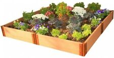 Outdoor Raised Garden Bed 8 x 8 x 11 in Expandable Composite Kit Natural New