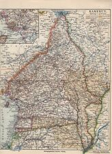 Cameroon German Colonies Old Country Map to 1908 Fernando Poo Adamaua
