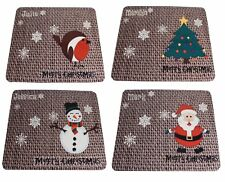 Personalised Christmas Place Mats Set of 4