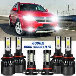 Para For Dodge Journey 2010-2017 2018 2019 faros LED alto /bajo+luces antiniebla