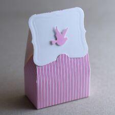 24st Taufgeschenk Gastgeschenk Baby Taufe Geburtstag Box Schachtel (Rosa -Taube)