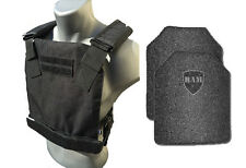 AR500 Body Armor | Bullet Proof Vest | CONCEALED VEST  | Base Frag Coating -Blk