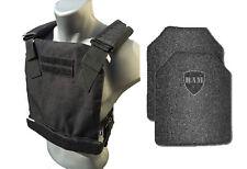 AR500 Body Armor | Bullet Proof Vest | BAM Low Profile | Base Frag Coating -Blk