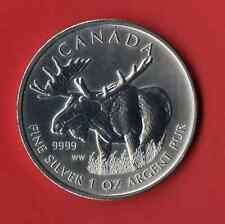 Elch 2012 Wildlife Canada 1 Oz Silber   5 $ Canada  * eingekapselt *