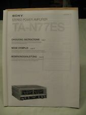 Sony TA N77ES AMP OPS Manual.