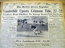 4 1950 newspapers NY YANKEES win baseball WORLD SERIES vs PHILADELPHIA PHILLIES