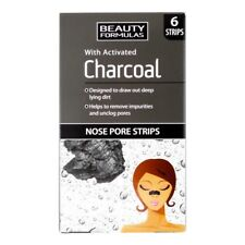 Beauty Formulas With Activated Charcoal Cleansing Nose Pore Strips - 6pcs