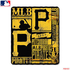 "New Northwest MLB Pittsburgh Pirates Large Soft Fleece Throw Blanket 50"" X 60"""