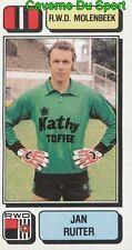 206 JAN RUITER NETHERLANDS RWD.MOLENBEEK STICKER FOOTBALL 1983 PANINI
