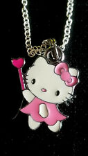 Hello Kitty Pink Fairy Heart Princess Dainty Small Charm Necklace