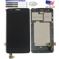 "For LG K8 2017 X240 X240H 5"" LCD Display Touch Screen Digitizer Assembly +Frame"